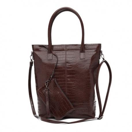 Zebratrends Natural Bag Kartel met rits XL - Brown