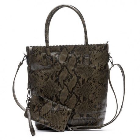 Zebratrends Natural Bag kartel XL met rits -army