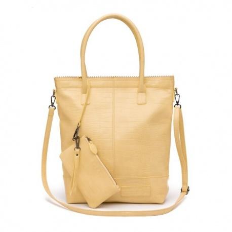 Zebratrends Natural Bag Kartel met rits XL - Yellow