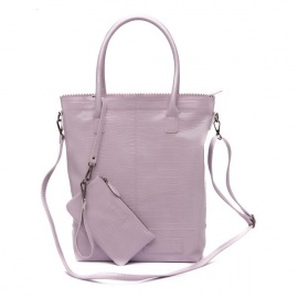 Zebratrends Natural Bag Kartel met rits XL - Purple