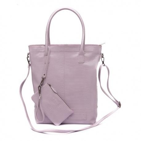 Zebratrends Natural Bag Kartel met rits XL - Purple