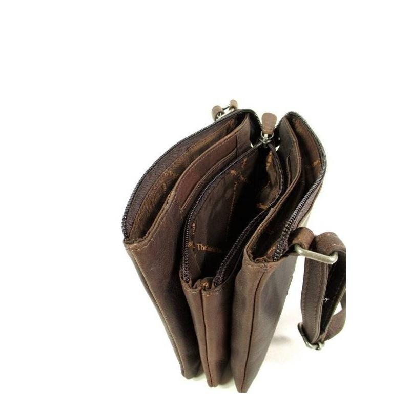 Leren Schoudertas Bruin : Chesterfield leren schoudertas portemonnee bruin