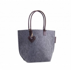 ZebraTrends Natural Bag Vilt Grey (A)
