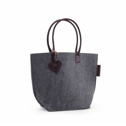 ZebraTrends Natural Bag Vilt Grey (C)