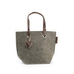 ZebraTrends Natural Bag vilt shopper grijs II