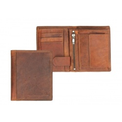 Chesterfield Leren Billfold Wallet Kate cognac