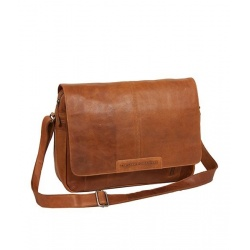 Chesterfield Leren Messenger Laptoptas Cognac 'Glenn'