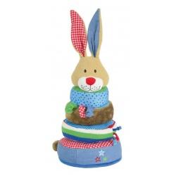 Lief! stapeltoren konijn blauw