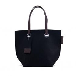 ZebraTrends Natural Bag vilt shopper zwart