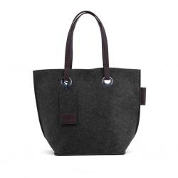 ZebraTrends Natural Bag vilt shopper antraciet