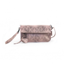 ZebraTrends Natural bag handtas Julia Snake Roze