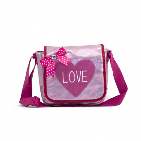 ZebraTrends Kinderflaptasje Love pink