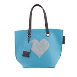 ZebraTrends Natrural bag Vilt hart blauw