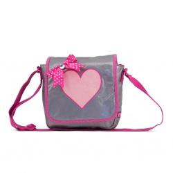 ZebraTrends Kinder Flaptas Shiny Pink met glitterhart