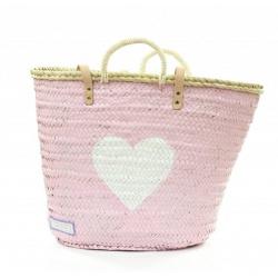 Twenty Violets Roze hart Wit met schouderband