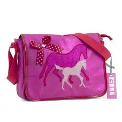 ZebraTrends Juior A4 schooltas Paard Pink
