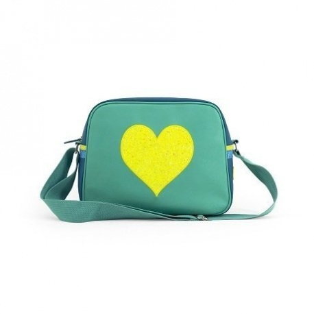 ZebraTrends Kidsbag Love hart Geel