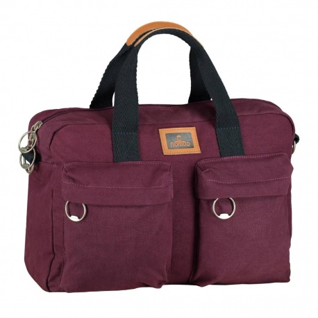 Nomad Canvas Bowler Laptoptas Bordeaux