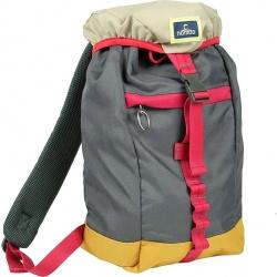 Nomad Polyester Daypack Grijs/Rood/Beige