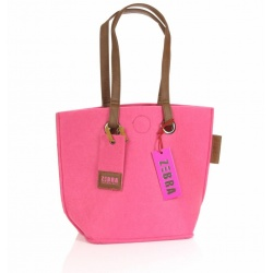 ZebraTrends Natural Bag Vilt Small - Roze