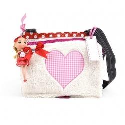ZebraTrends Kindertas teddy hart pink