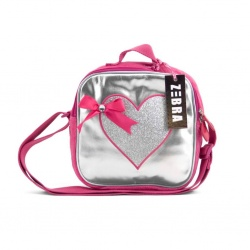 ZebraTrends Girly zilver hart Kindertasje