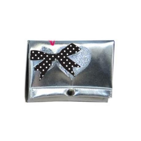 ZebraTrends Portemonnee zilver hart