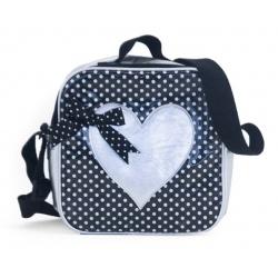 ZebraTrends Kindertasje hart zilver