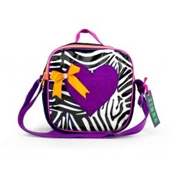 ZebraTrends Kindertasje Hart paars