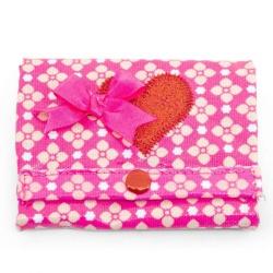 ZebraTrends Pink Flower Portemonnee