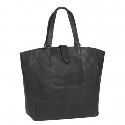 Leren Shopper Zwart Oldham XL