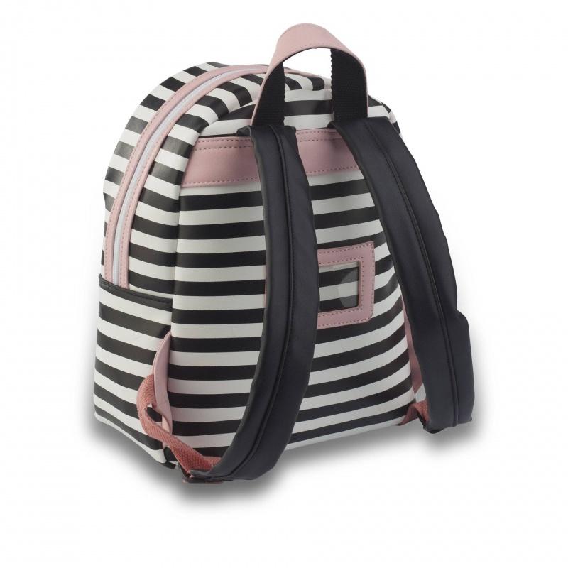 4dfb301e3f6 ZebraTrends Rugzak S Stripes Pink