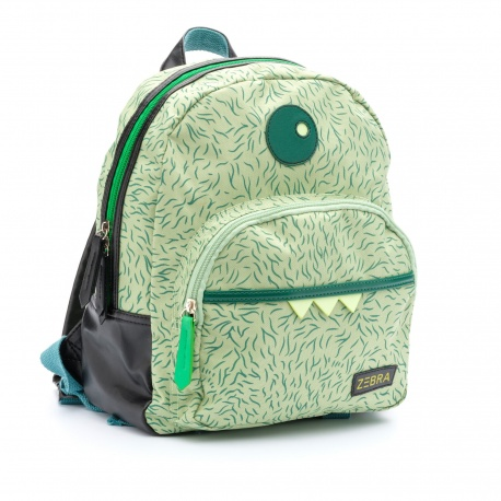 ZebraTrends Rugzak Boys Monster Groen