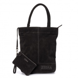 ZebraTrends Natural Bag Kartel Echt Suede Zwart