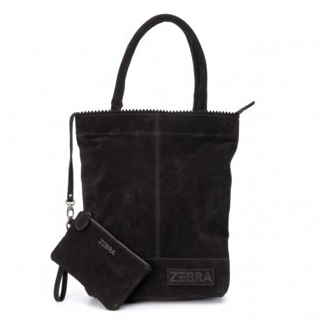 ZebraTrends Natural Bag Kartel Echt Suede Zwart
