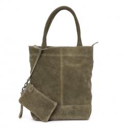 ZebraTrends Natural Bag Kartel Echt Suede Grijs