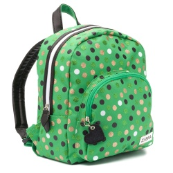 ZebraTrends Girls Rugzak Wild Dots Green
