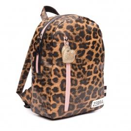 ZebraTrends Rugzak M Leopard en Pink