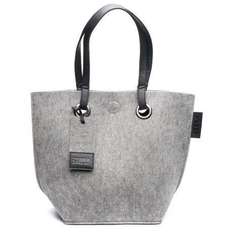 ZebraTrends Natural Bag Vilt Grey