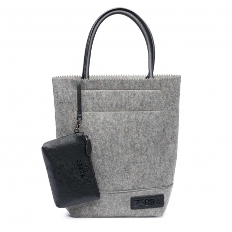 ZebraTrends Natural Bag Kartel Vilt Grey