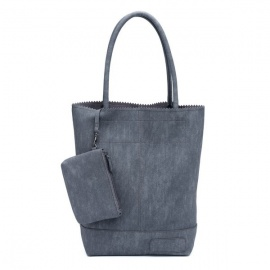 Zebratrends Natural Bag kartel - Grey - Linnen