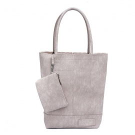 Zebratrends Natural Bag kartel - Stone - Linnen