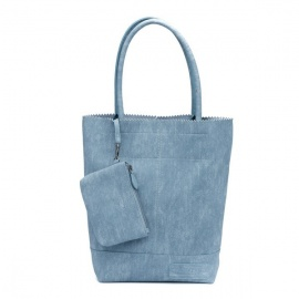 Zebratrends Natural Bag kartel - JeansBlue - Linnen